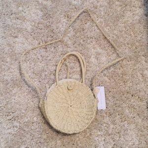 Handbags - Circle straw bag.